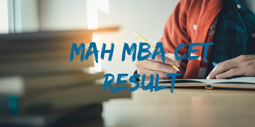 MAH MBA CET Result 2021