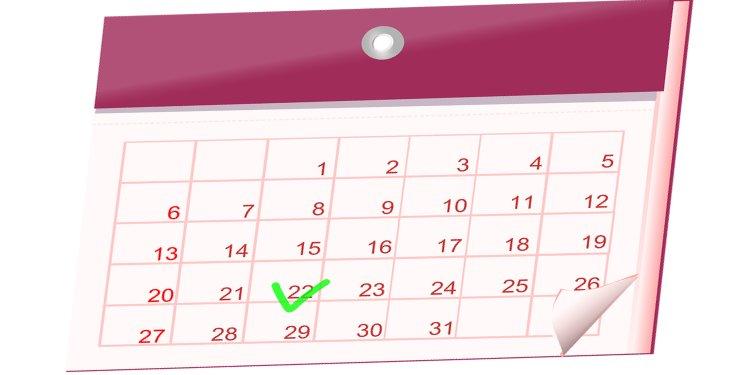 Calendar Date Marked