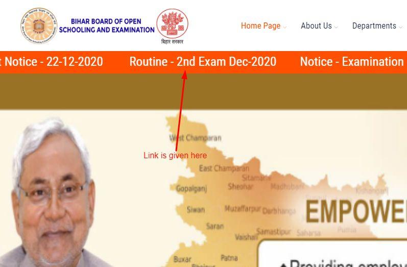bbose exam date link on website
