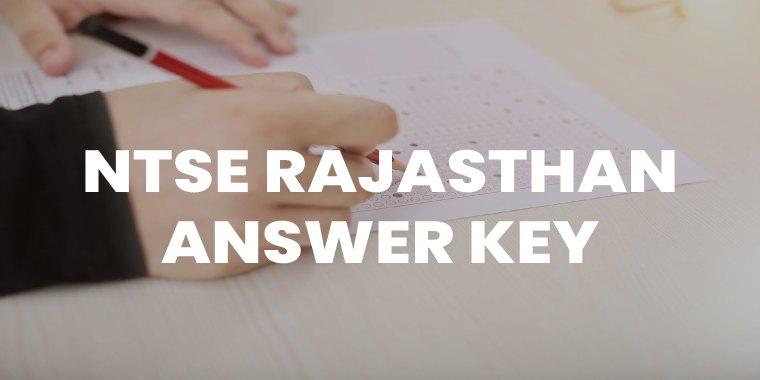 NTSE Rajasthan Answer key Featured Image