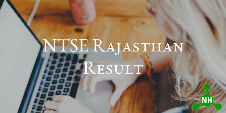 NTSE Rajasthan Result