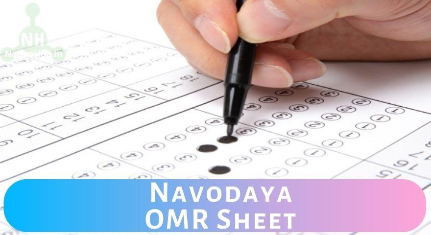 Navodaya OMR sheet Featured Image