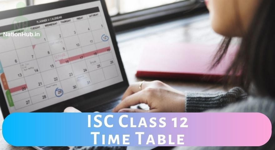 ISC time table class 12 Featured Image