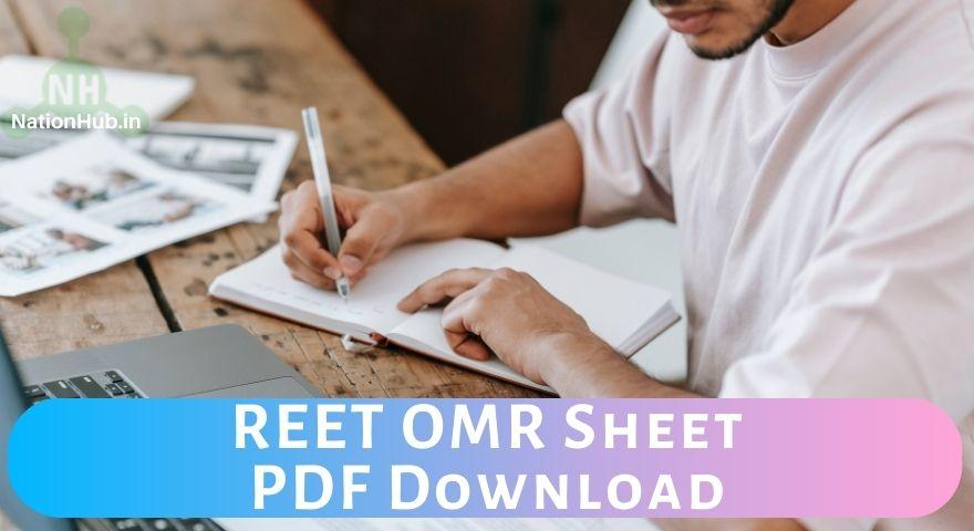 REET OMR Sheet Featured Image