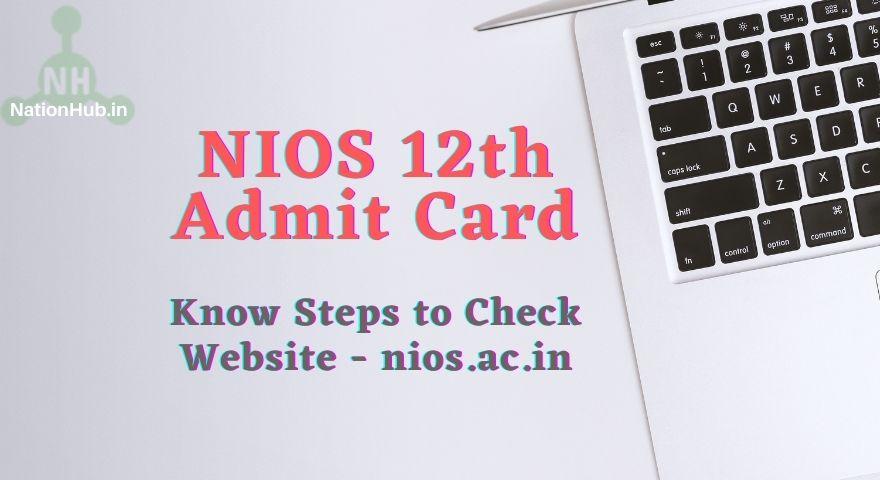 NIOS 12th Admit Card Featured Image